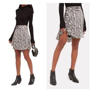 A.L.C. Snake Print Silk Mini Skirt w/ Belt Sz 2